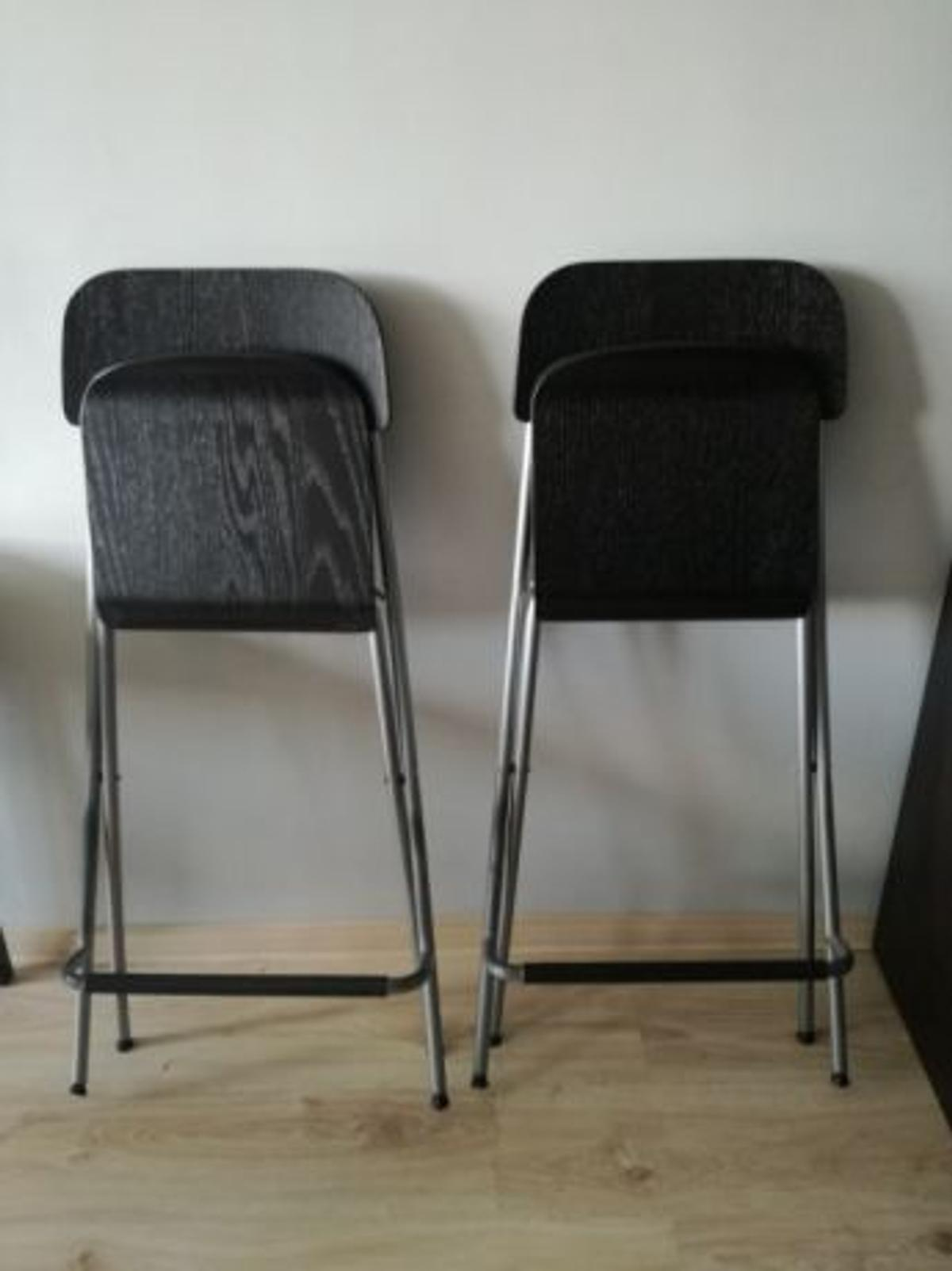 Fantastic 2 X Ikea Franklin Foldable Bar Stools Gmtry Best Dining Table And Chair Ideas Images Gmtryco