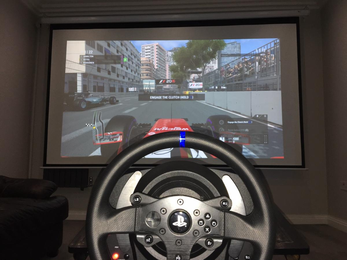 PS4 steering wheel Thrustmaster t300rs in E6 London Borough