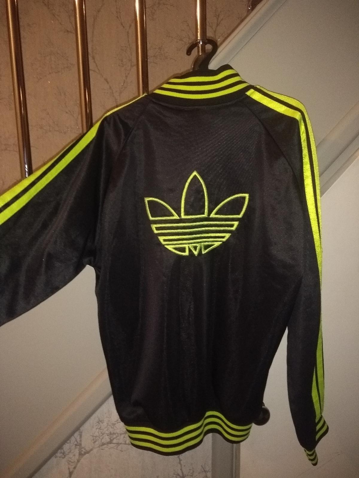 2f163628 Black/neon yellow Adidas track jacket in BB1 Hyndburn for £5.00 for ...