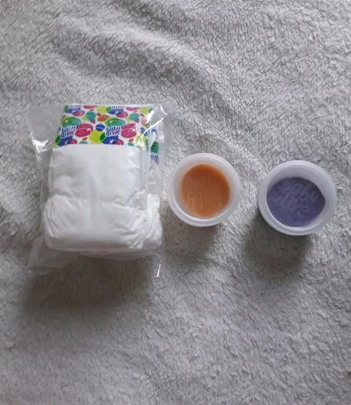 Baby Alive Reuseable Food And 3 Nappies