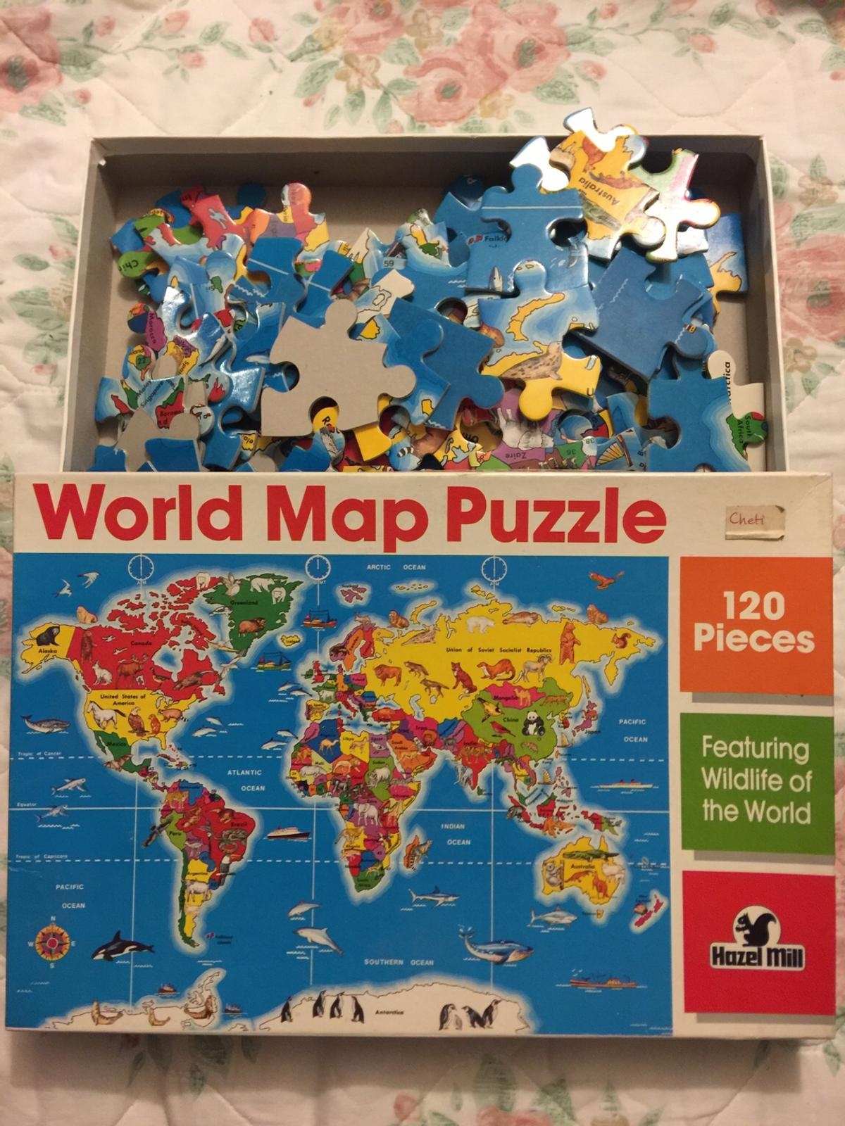 New world map jigsaw puzzle 120 pieces
