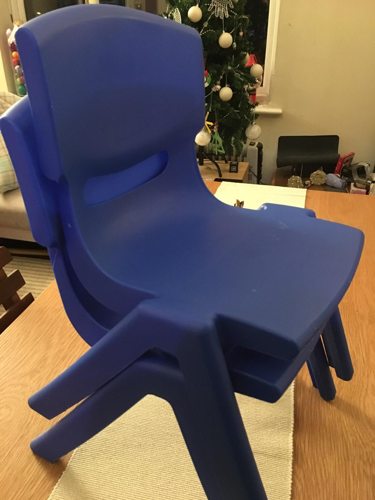 Stackable Children Plastic Chair Blue In Kt1 London For