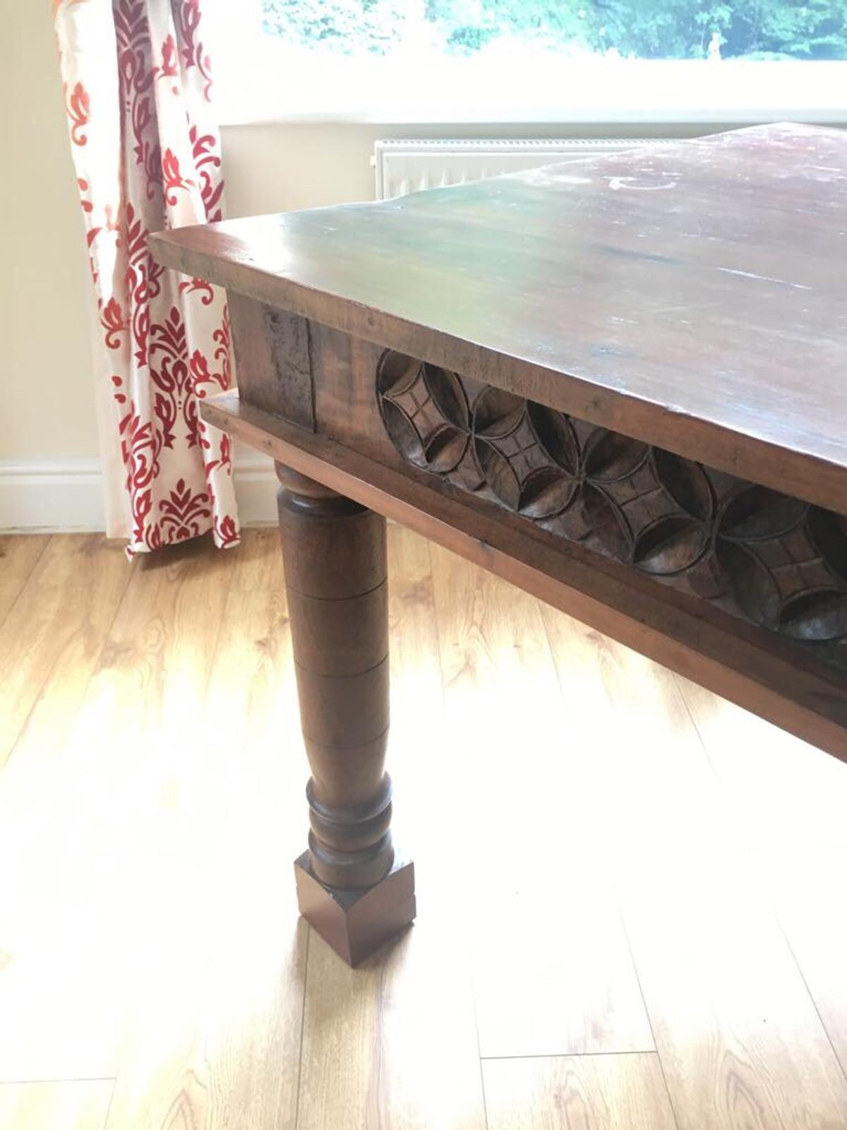 Teak Hand Carved Dining Table In Tameside For 400 00