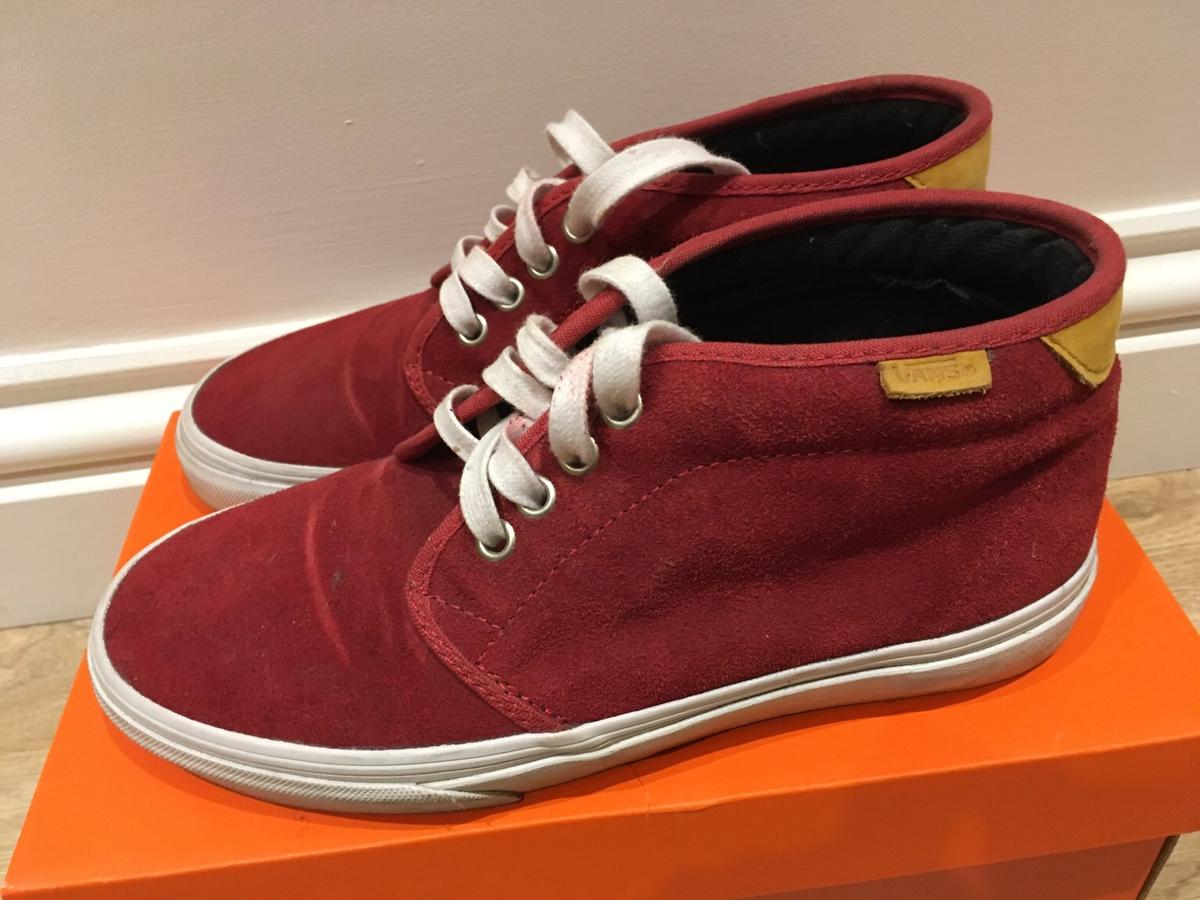 wide selection of colours and designs newest style of fashion design Red suede Vans