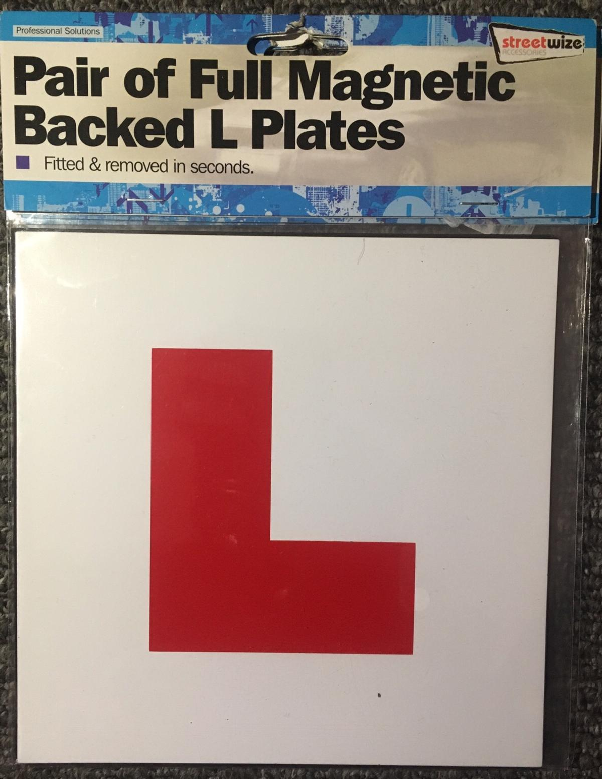 2 Learner Plates with full magnetic backing