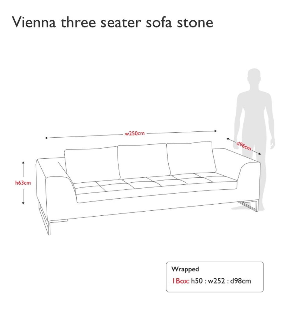 Excellent Dwell Vienna Three Seater Sofa Stone Colour In Tw16 London Spiritservingveterans Wood Chair Design Ideas Spiritservingveteransorg