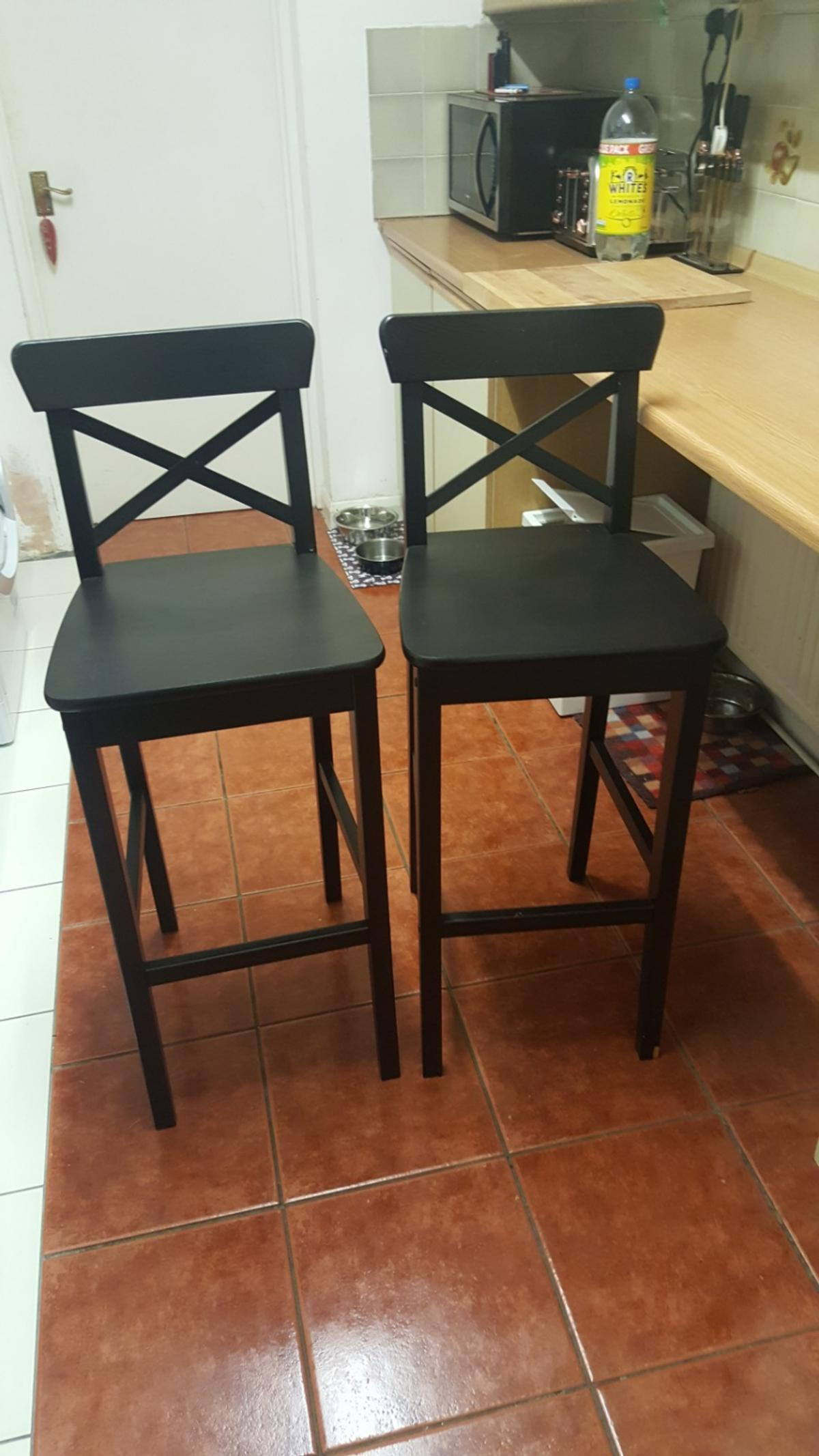 premium selection 01a2f 9a142 2 x Ikea Ingolf Bar Stools Chairs