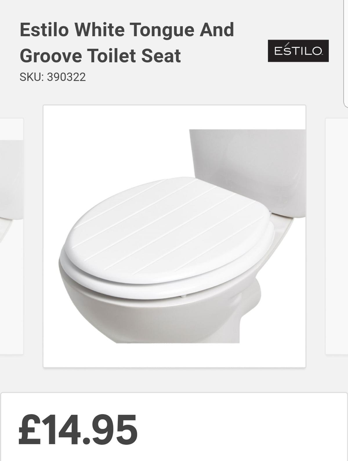 Estilo Grey Toilet Seat in WS12 Chase for £10 00 for sale