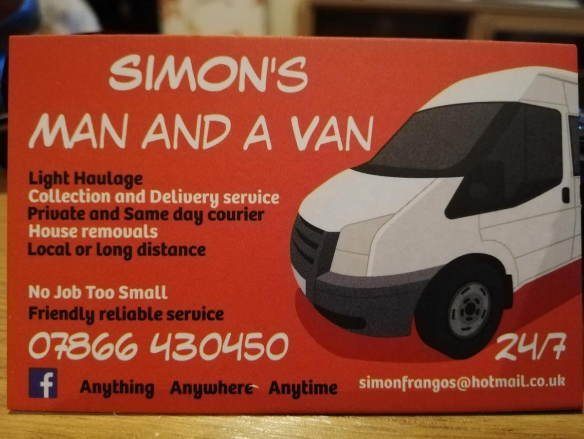 Simon's man and a van