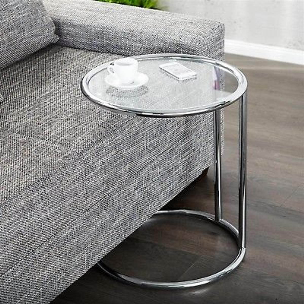 Picture of: Contemporary Round Glass Side Table In Ol14 Calderdale For 45 00 For Sale Shpock