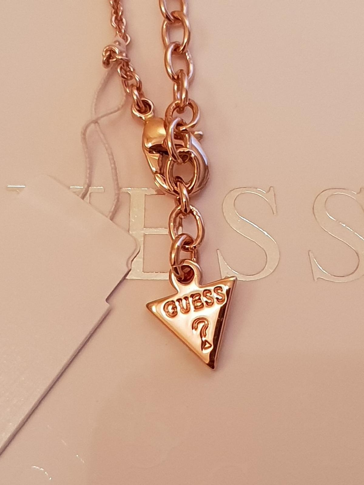 Guess Heart Devotion Rose Gold Necklace in CH49 Wirral für