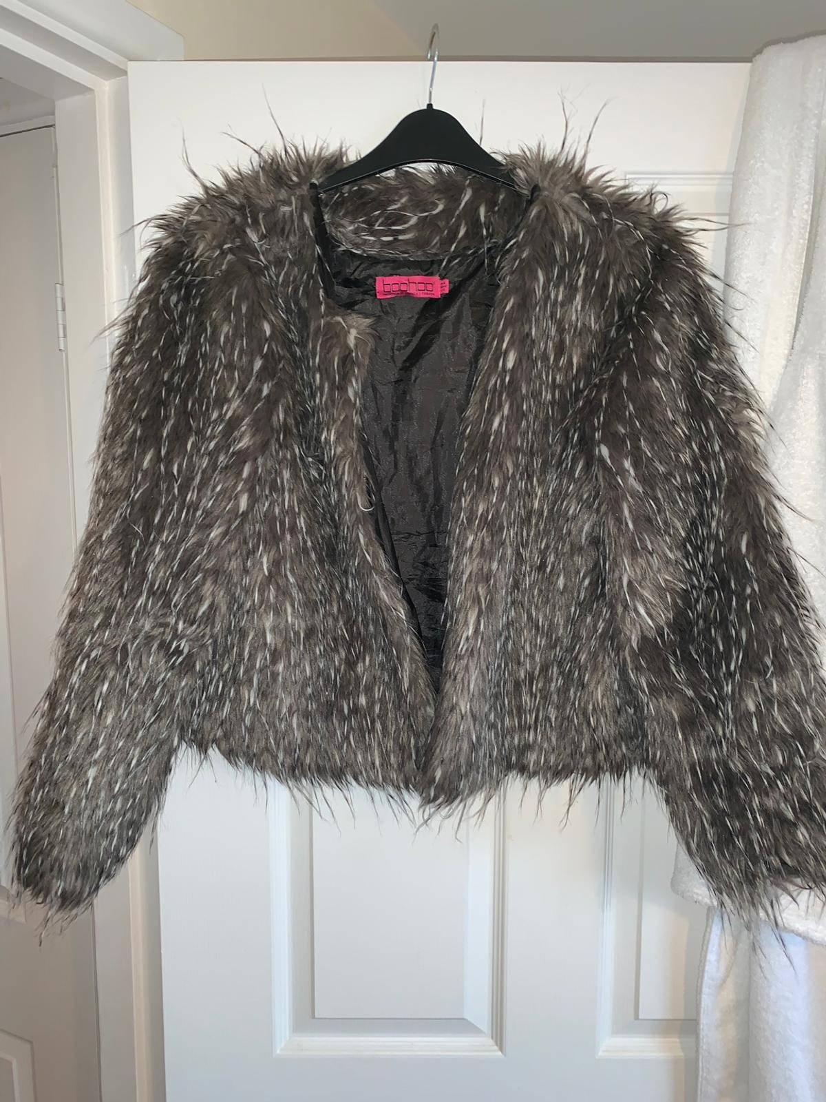 Sales promotion popular style wide selection of designs Boohoo faux fur jacket