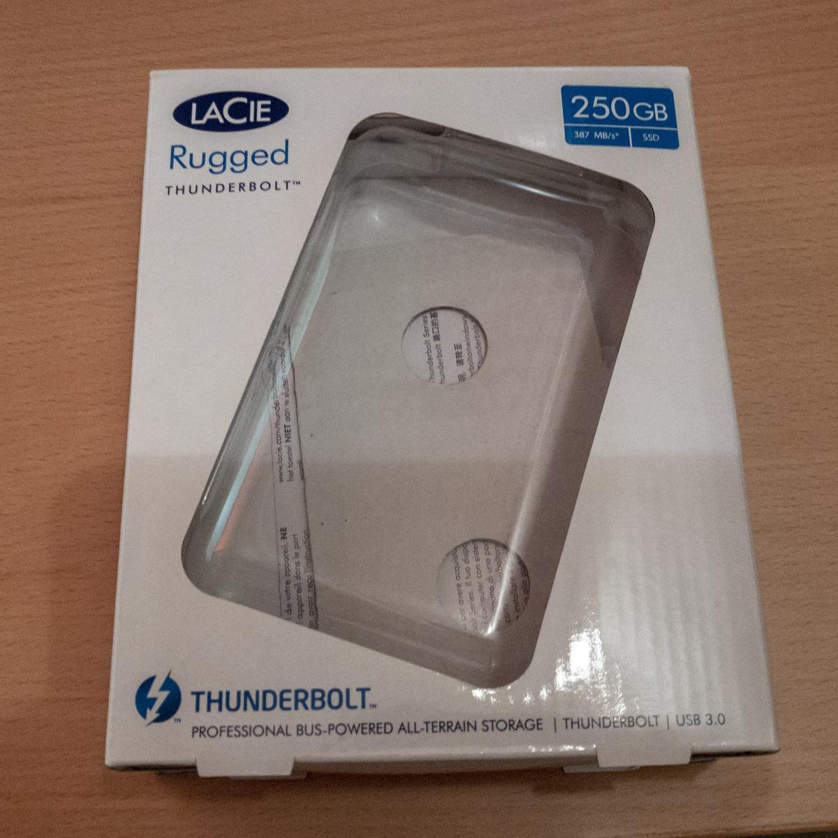 LaCie Rugged Thunderbolt 250 GB External SSD in E6 London