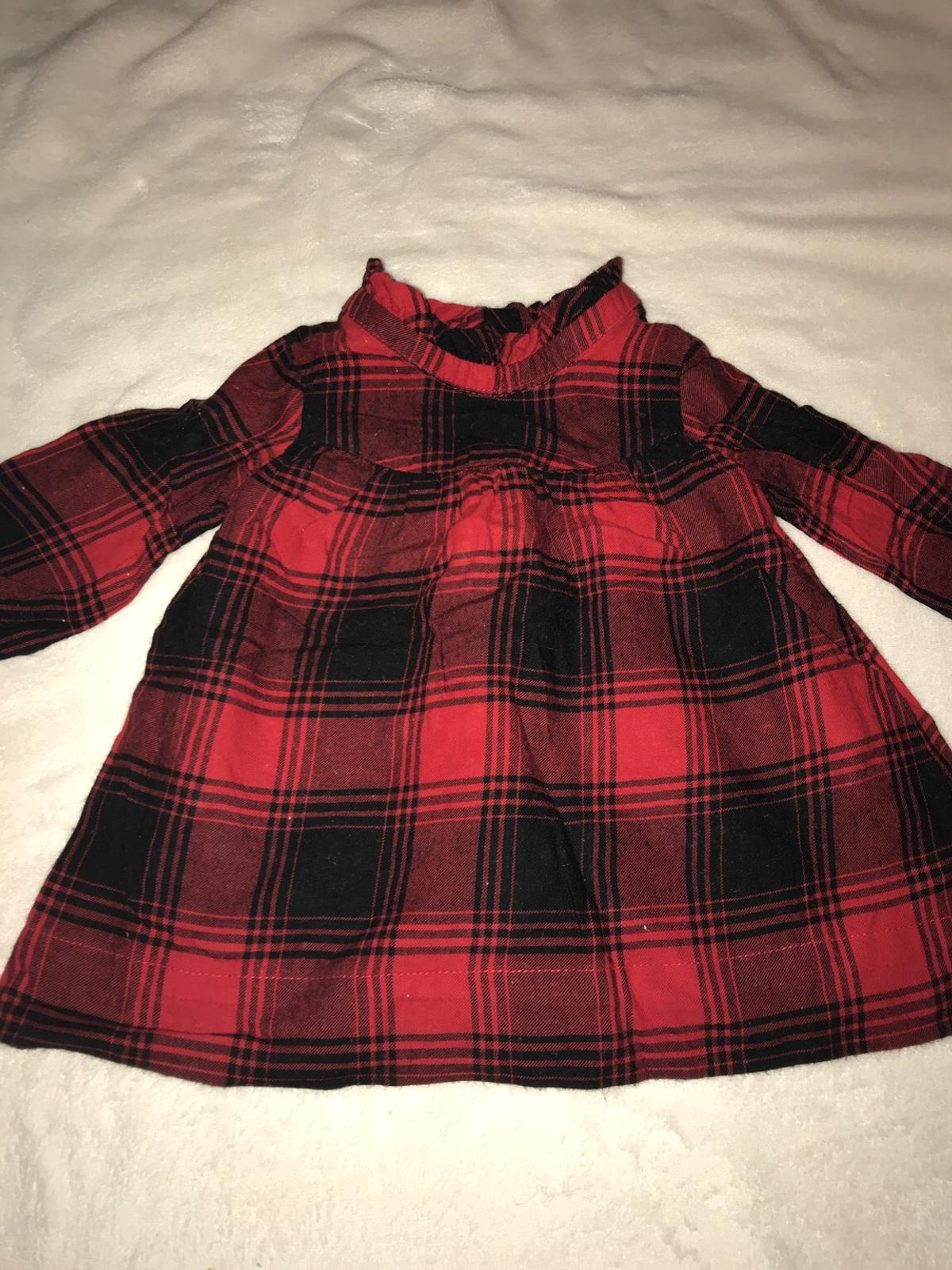 339783149d17f GAP Baby Girl Red Checked Dress 3-6 Months