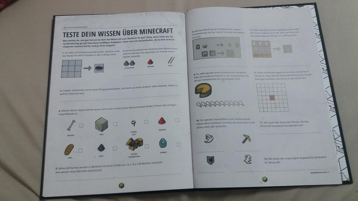 Minecraft Karte Rezept.Minecraft Annual 2017 In 72525 Münsingen For 5 00 For Sale Shpock
