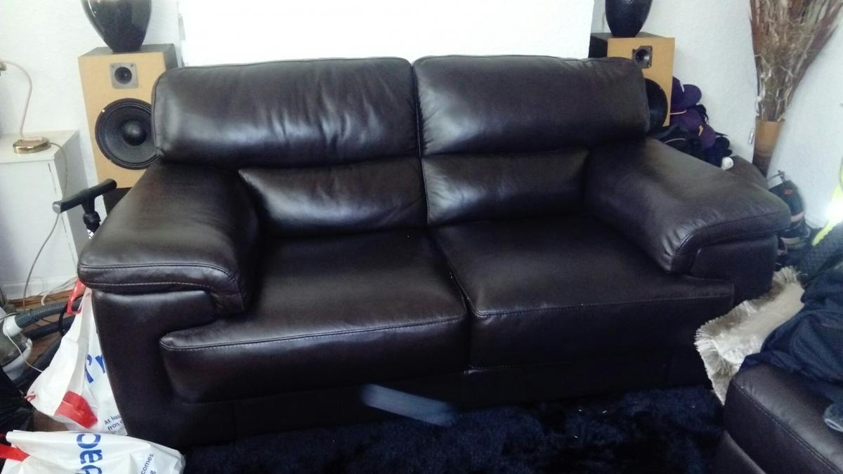 2 seater leather sofa from Sofology