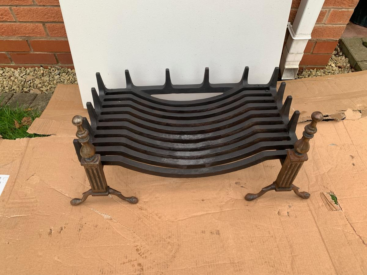 Vintage Xl Cast Iron Antique Fireplace Grate In B75 Birmingham For