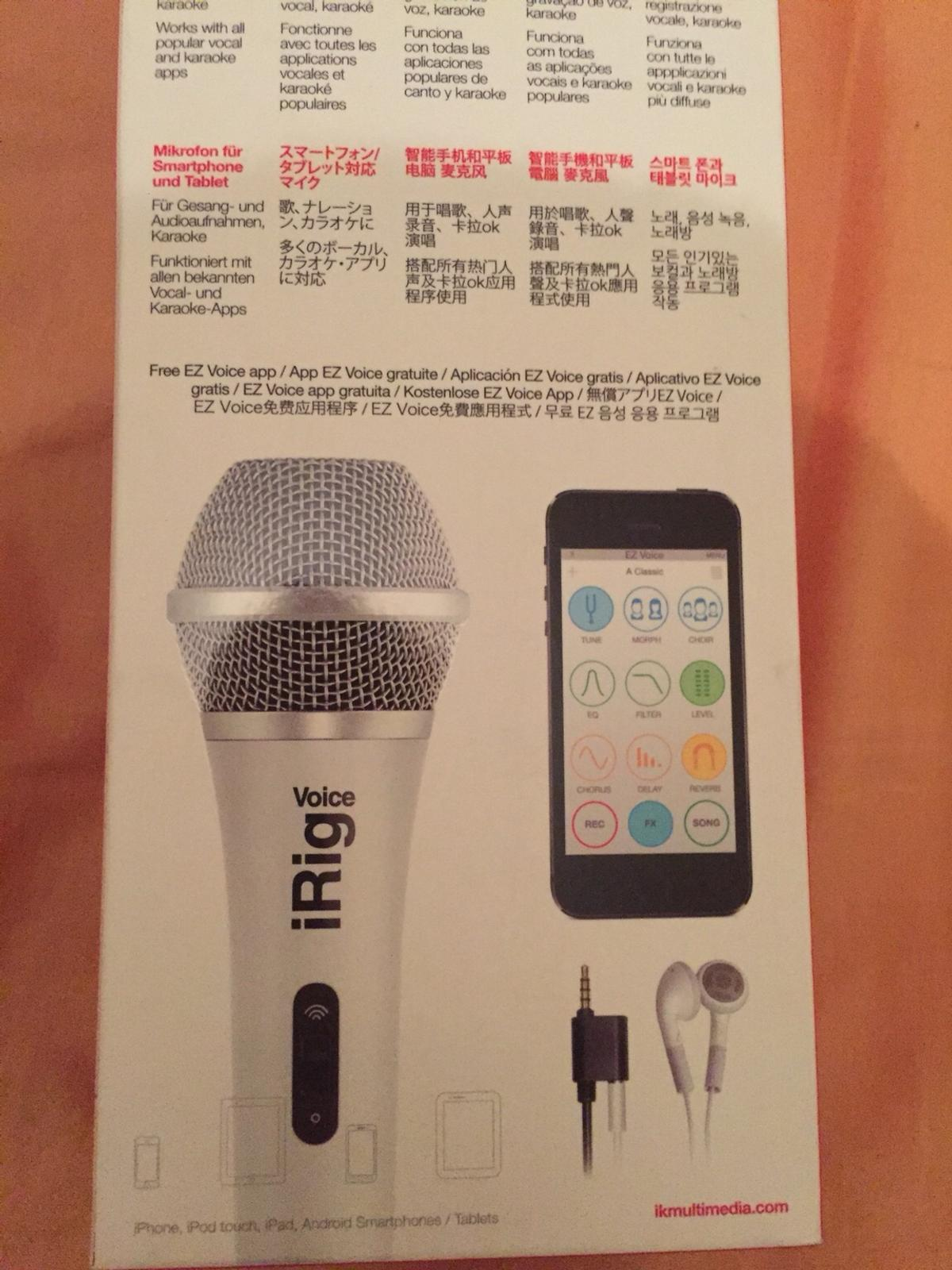 IRIG VOICE MICROPHONE FOR PHONES TABLETS MIC in LE2 Leicester for