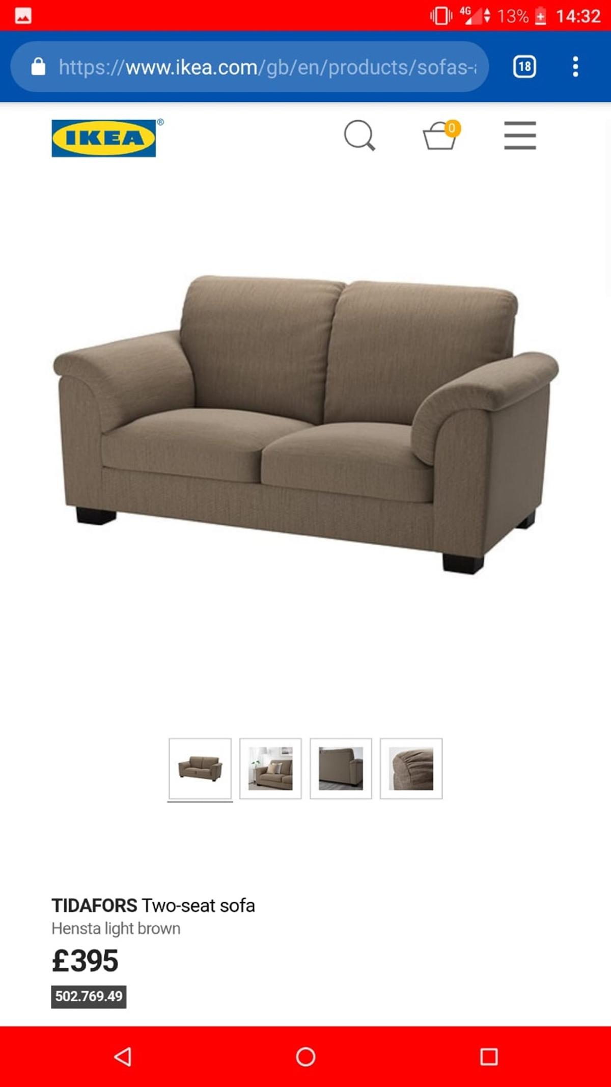 Ikea 2 Seater Couch In Bangor For 150