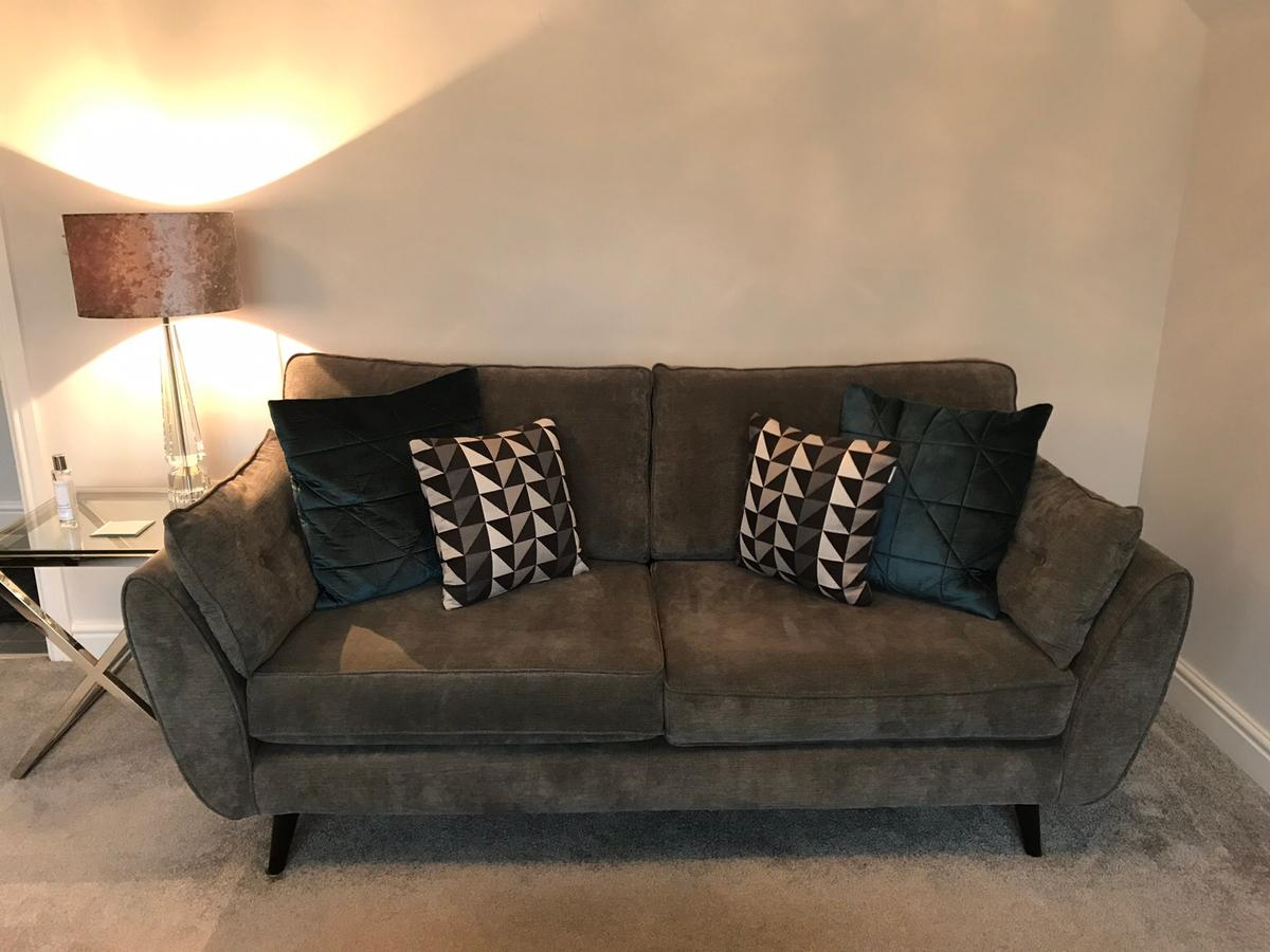 French Connection Zinc 3 Seater Sofa