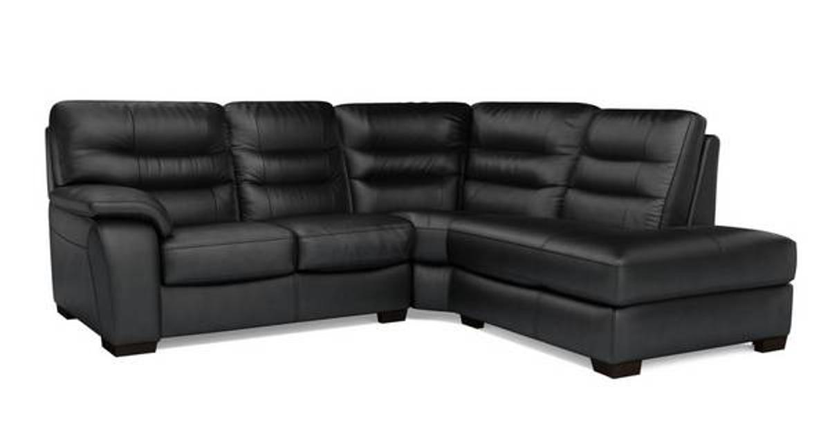 BN DFS Corner Leather Sofa Black RRP £1800 in BB9 Pendle for ...
