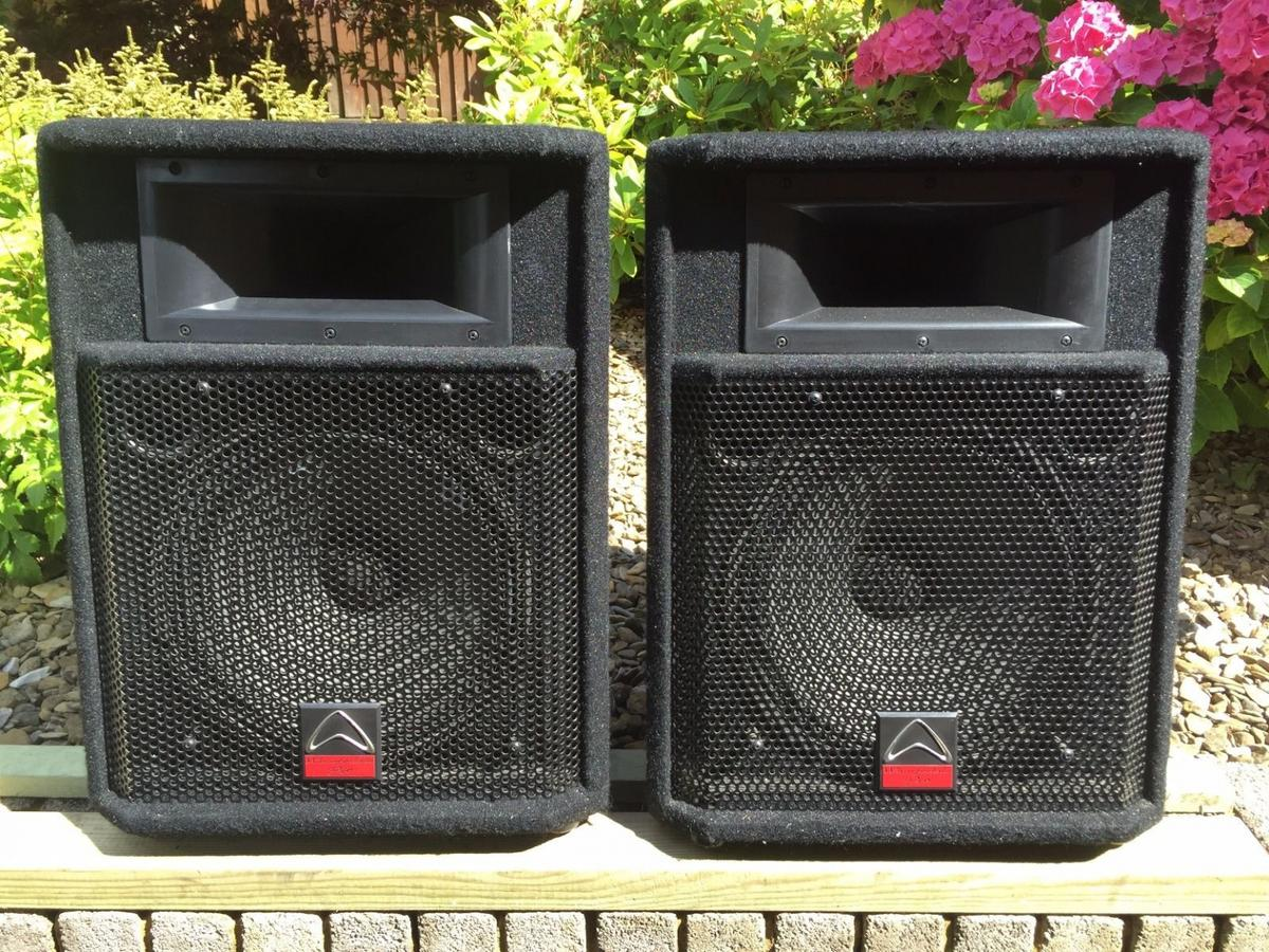 Pair of Wharfedale Pro EVP-S12 Speakers in CF45 Mountain Ash