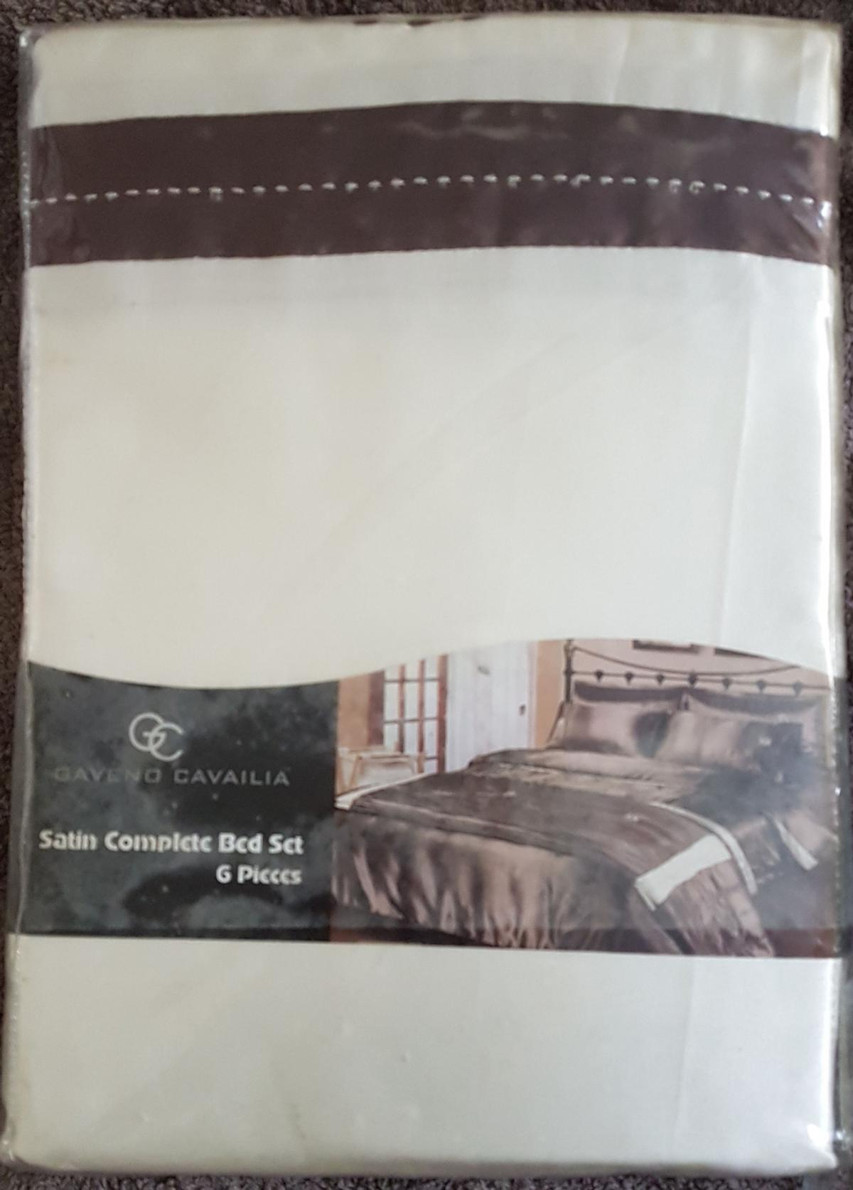 FITTED SHEET /& 4 x PILLOWCASES NEW BEDDING CREAM SATIN KING DUVET COVER