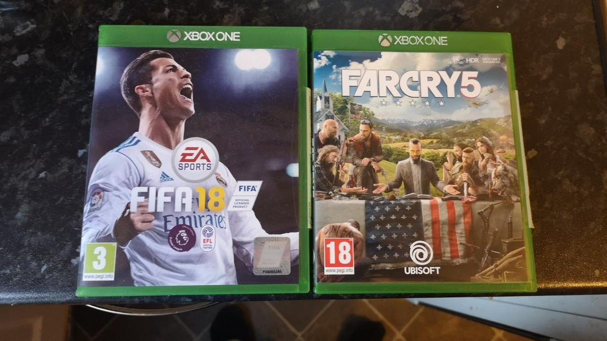 xbox one far cry 5 and fifa 18