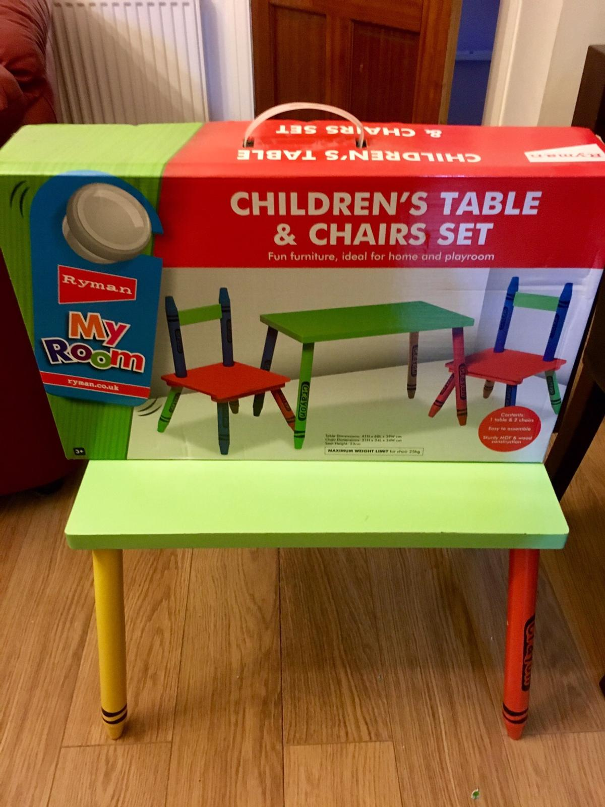 Sensational Childrens Kids Crayon Table And Chairs Set Ocoug Best Dining Table And Chair Ideas Images Ocougorg