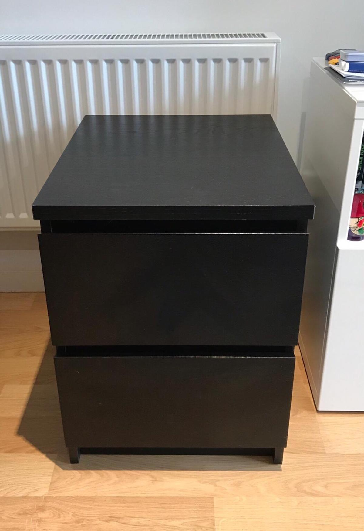 Ikea Malm Bedside Table Black Brown In Se23 London For