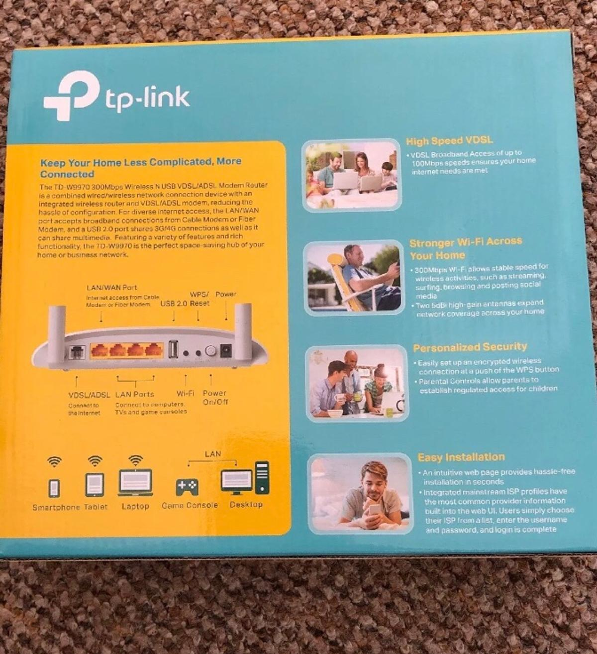 TP Link Wireless Router TD - W8961ND 300Mbps