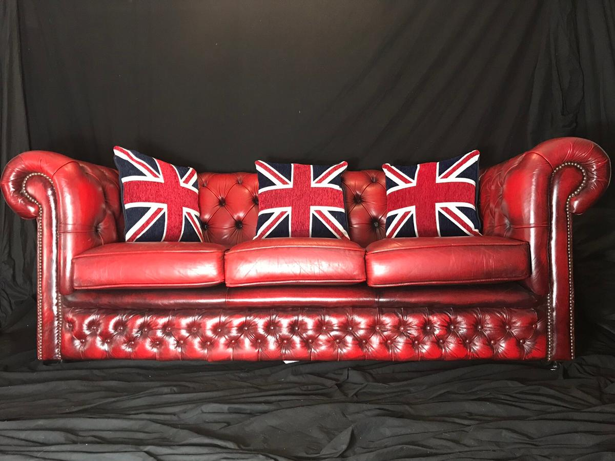 Fabulous 20Th Century Red Leather Chesterfield Sofa In Ch24Eb Chester Cjindustries Chair Design For Home Cjindustriesco