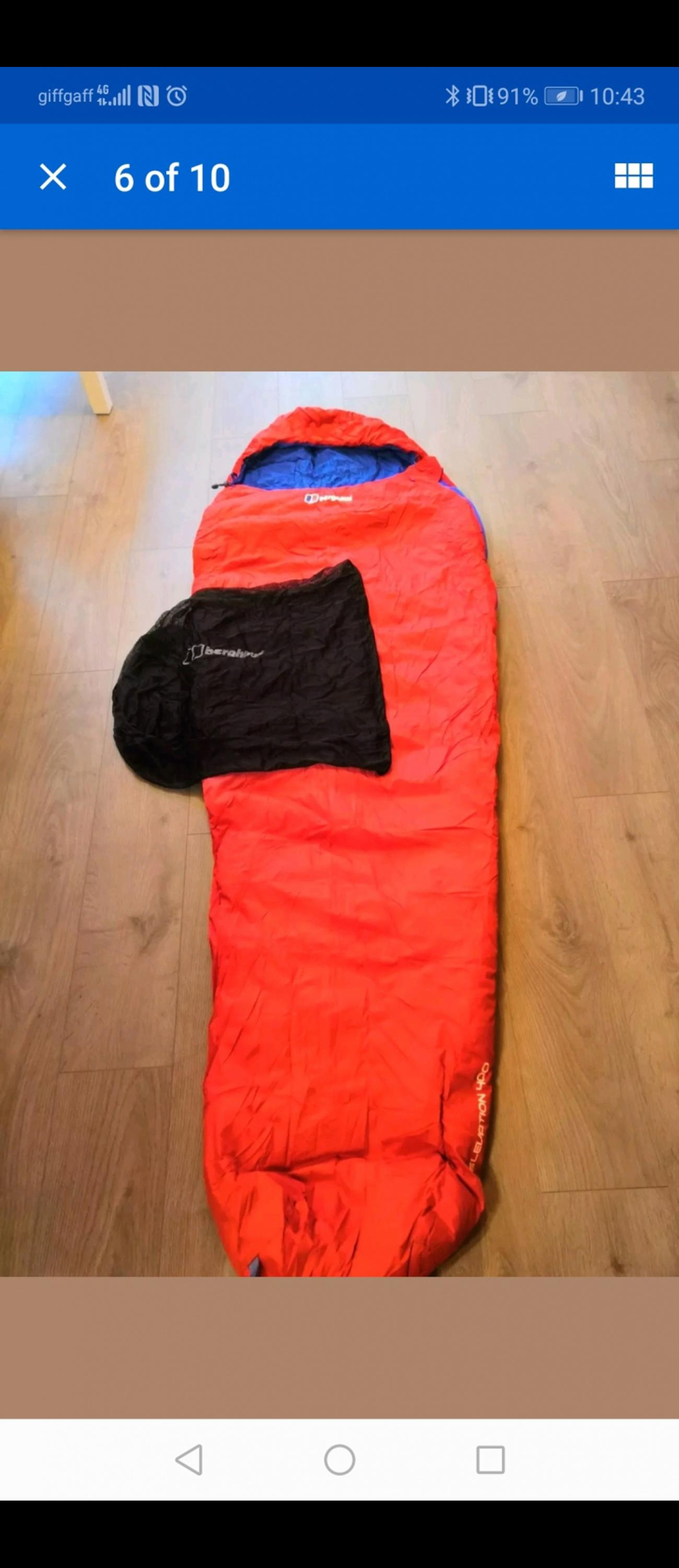 hot sale online 0da46 d59ce Berghaus Elevation 400 Down Sleeping Bag NEW in TW15 London ...