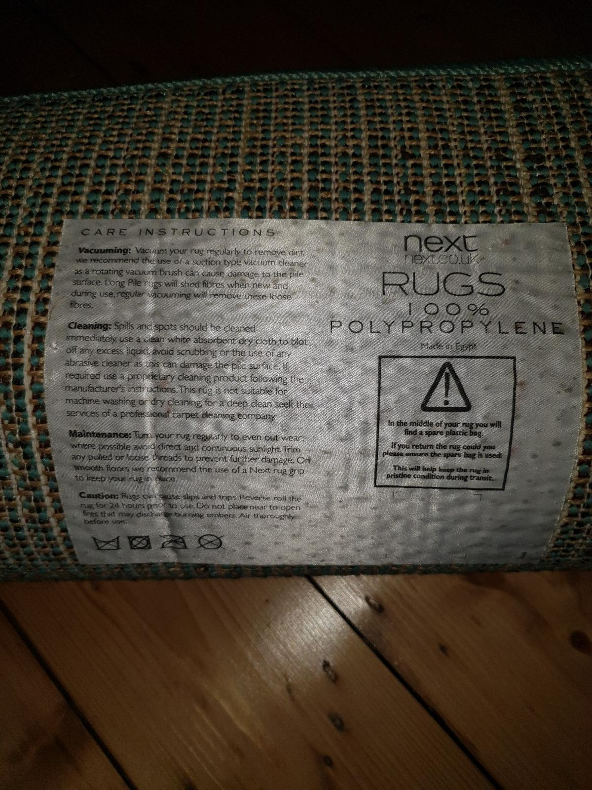 Next Light Teal Rug Brand New In M18