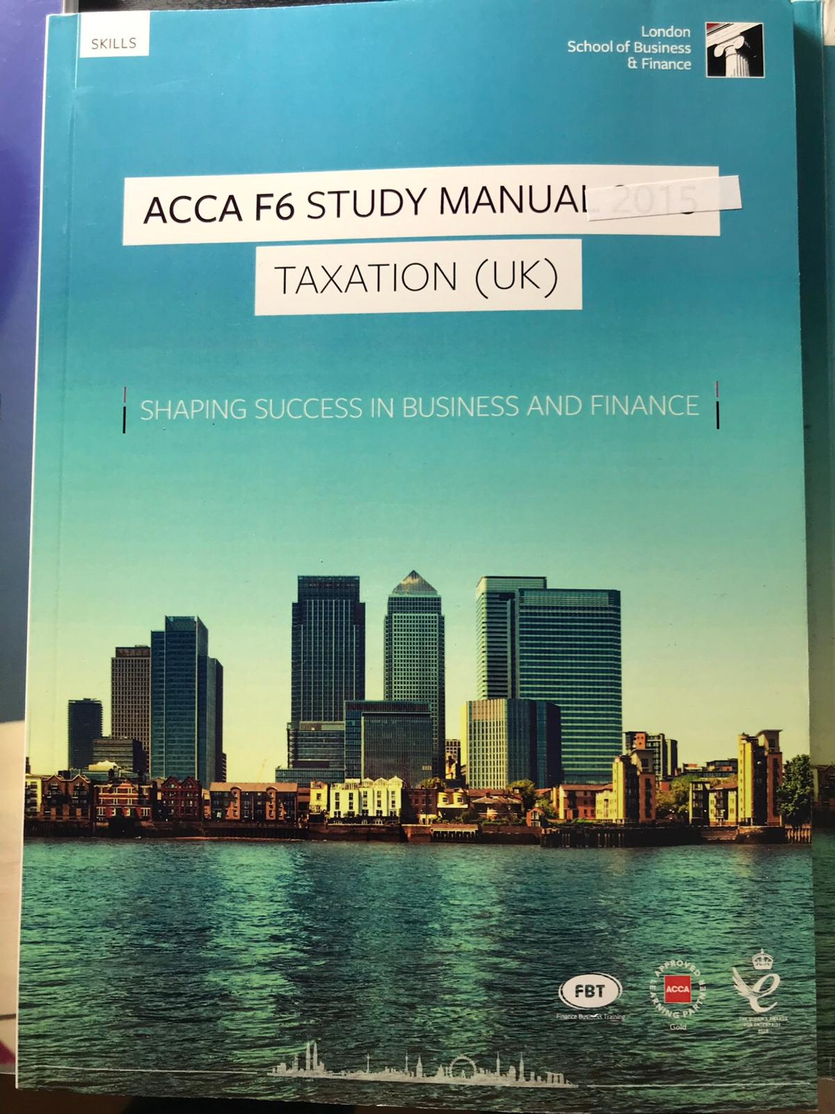 ACCA F6 Study, Revision Kit & Cards