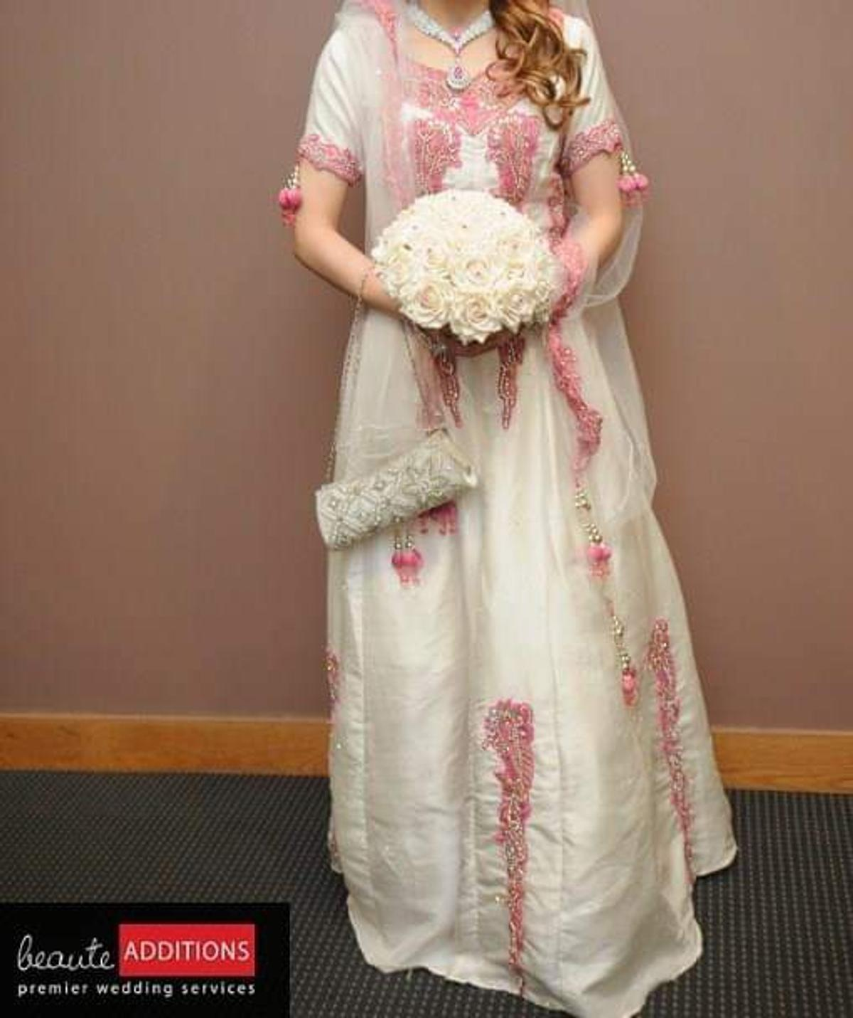 White And Pink Asian Pakistan Wedding Dress In Bl2 Bolton Fur 220 00