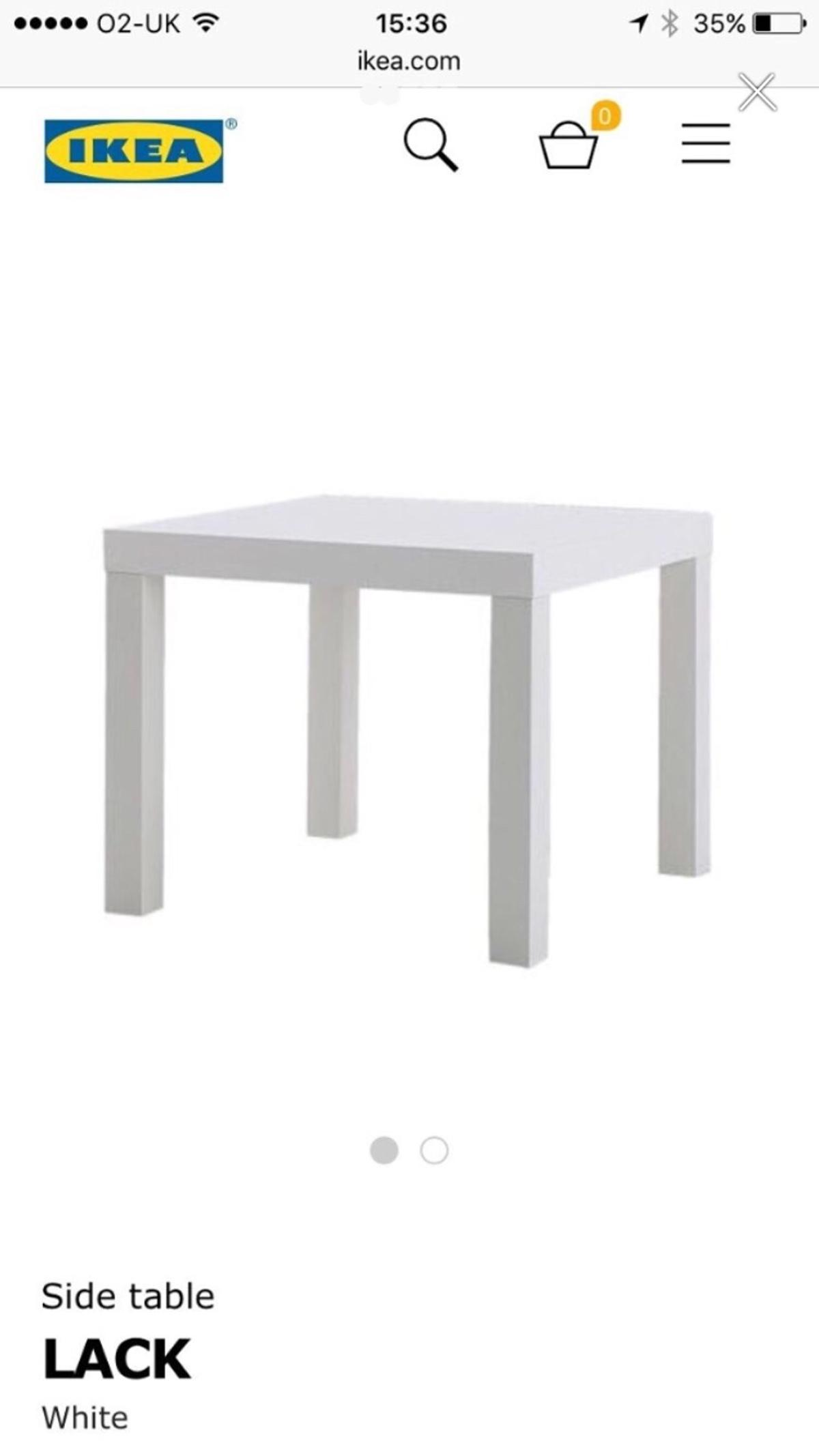 Ikea Side Table Lack White X2
