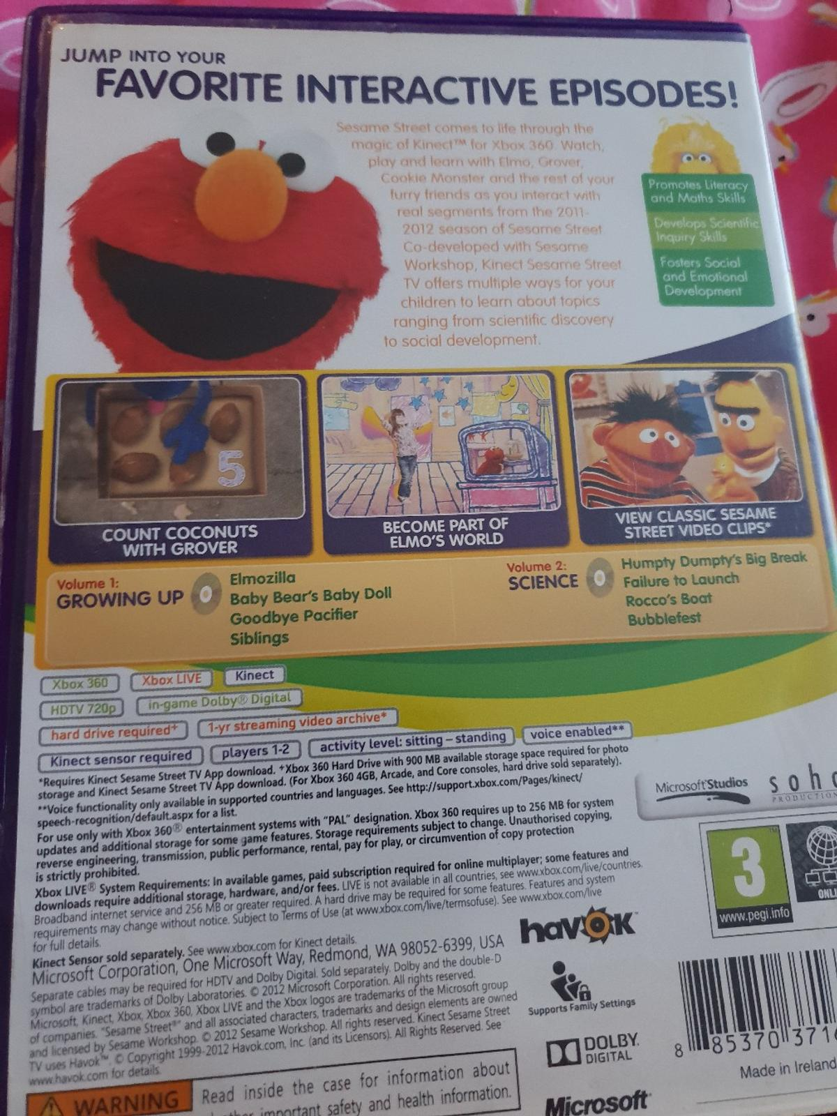 Kinect sesame street Xbox 360 game in CT11 Thanet for £5 50