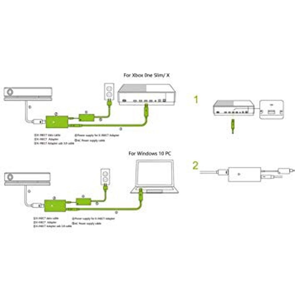 Xbox one Kinect + Adapter Netzteil für Kinect in 74080 ... Xbox Kinect Wire Diagram on