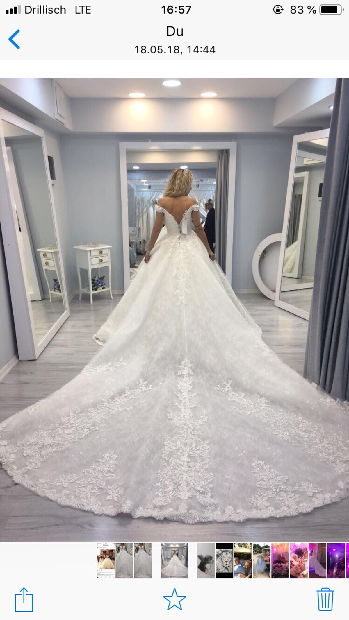 Brautkleid mit langer Schleppe in 133 Heidelberg for €13,13.13