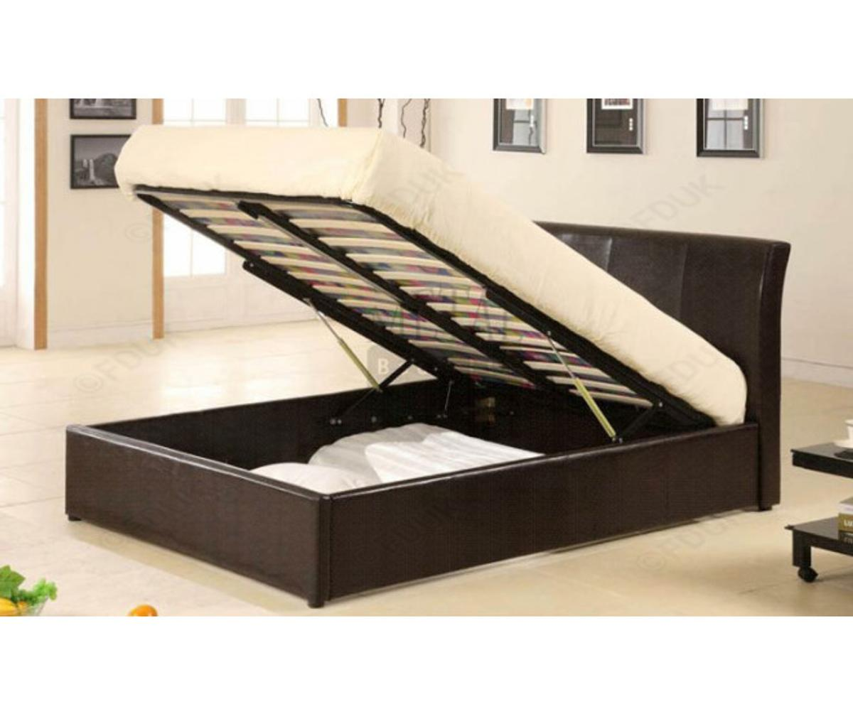 Astounding Waverley Storage Ottoman Double Bed Beatyapartments Chair Design Images Beatyapartmentscom