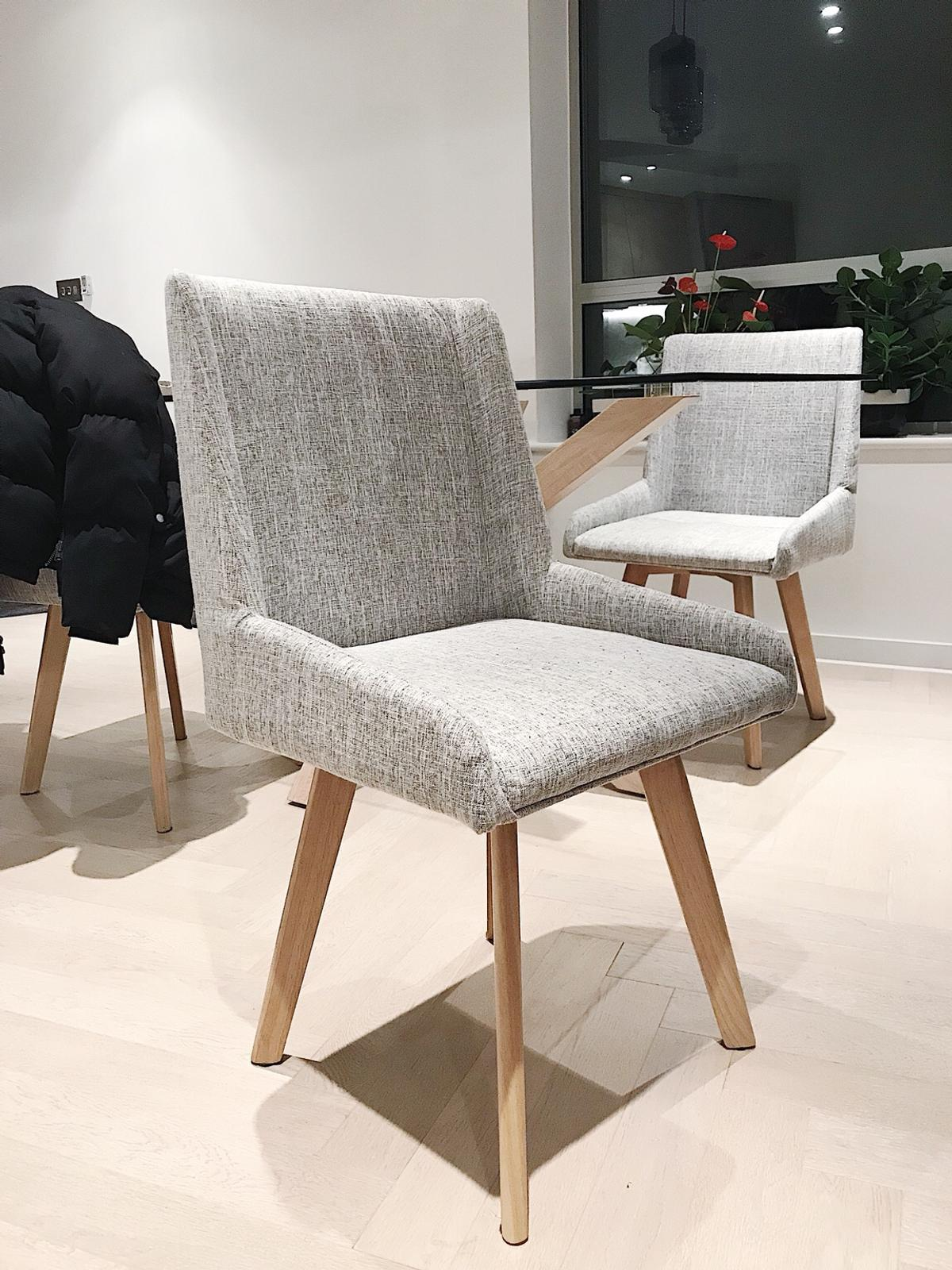 info for c94c4 611ed Wayfair Upholstered Dining Chairs in Grey in NW5 Camden for ...