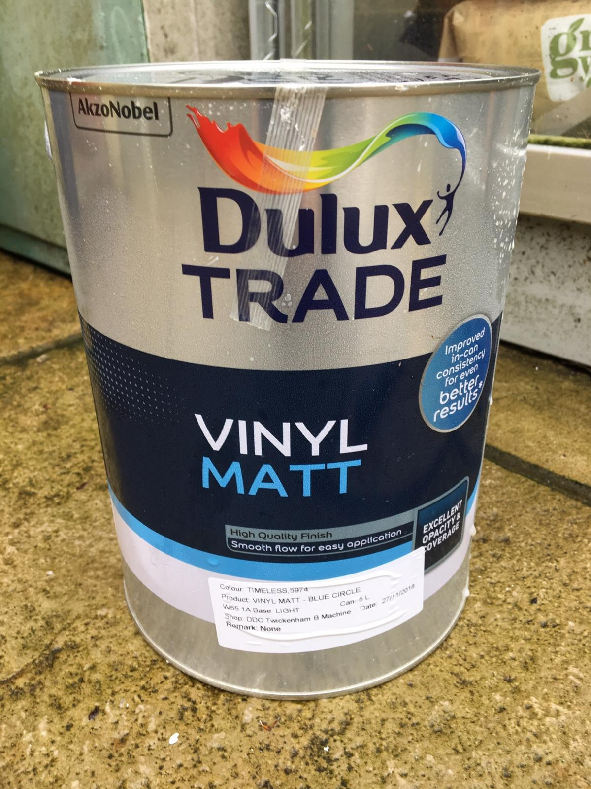 Dulux Timeless 5L paint (RRP £49.85) in KT14 Runnymede for £28.00 for sale  | Shpock