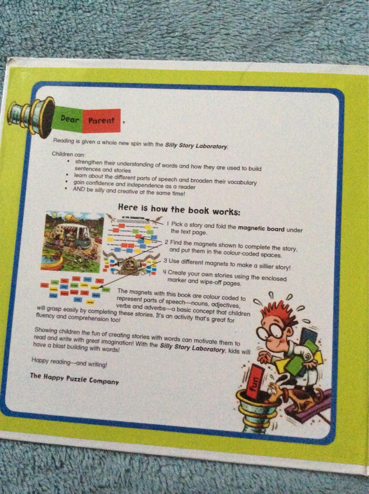 Silly story laboratory magnet book in DA1 Bexley for £5 00