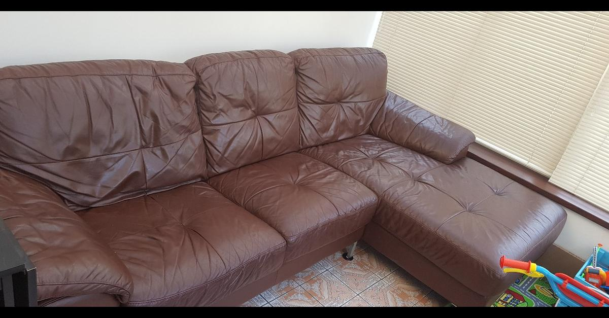 Brown leather corner sofa in B46 Warwickshire for £150.00 for sale ...
