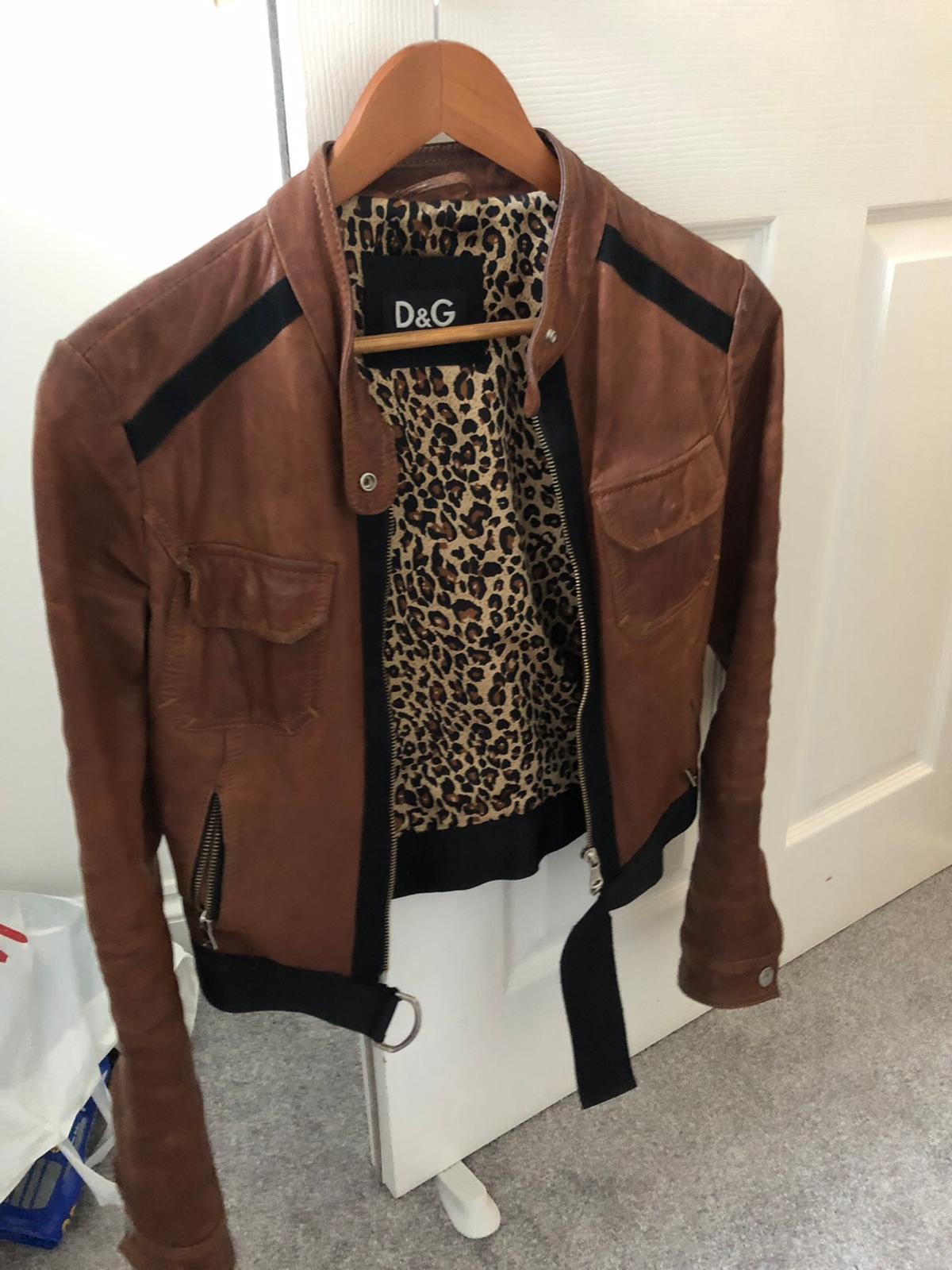 large assortment where to buy premium selection Vintage D&G leather jacket