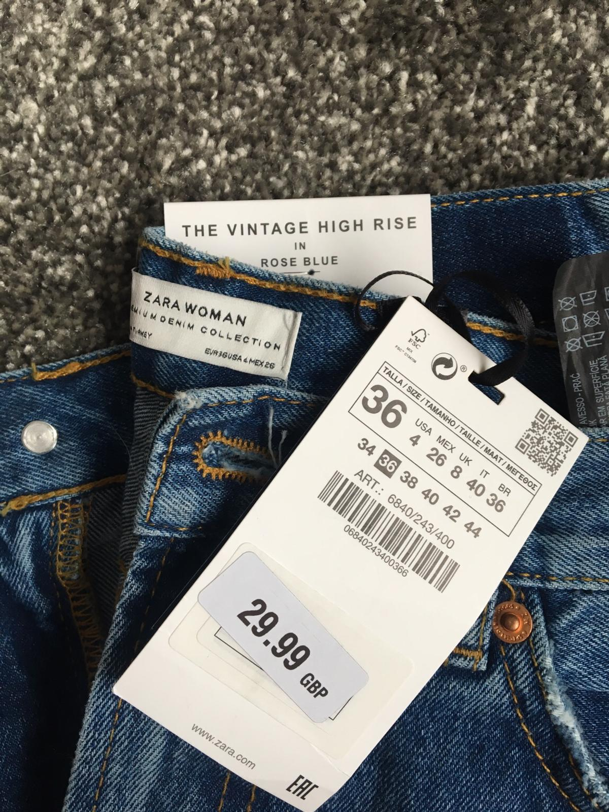 aa538bc121 Zara vintage high rise jeans straight leg in EC1M London for £15.00 ...