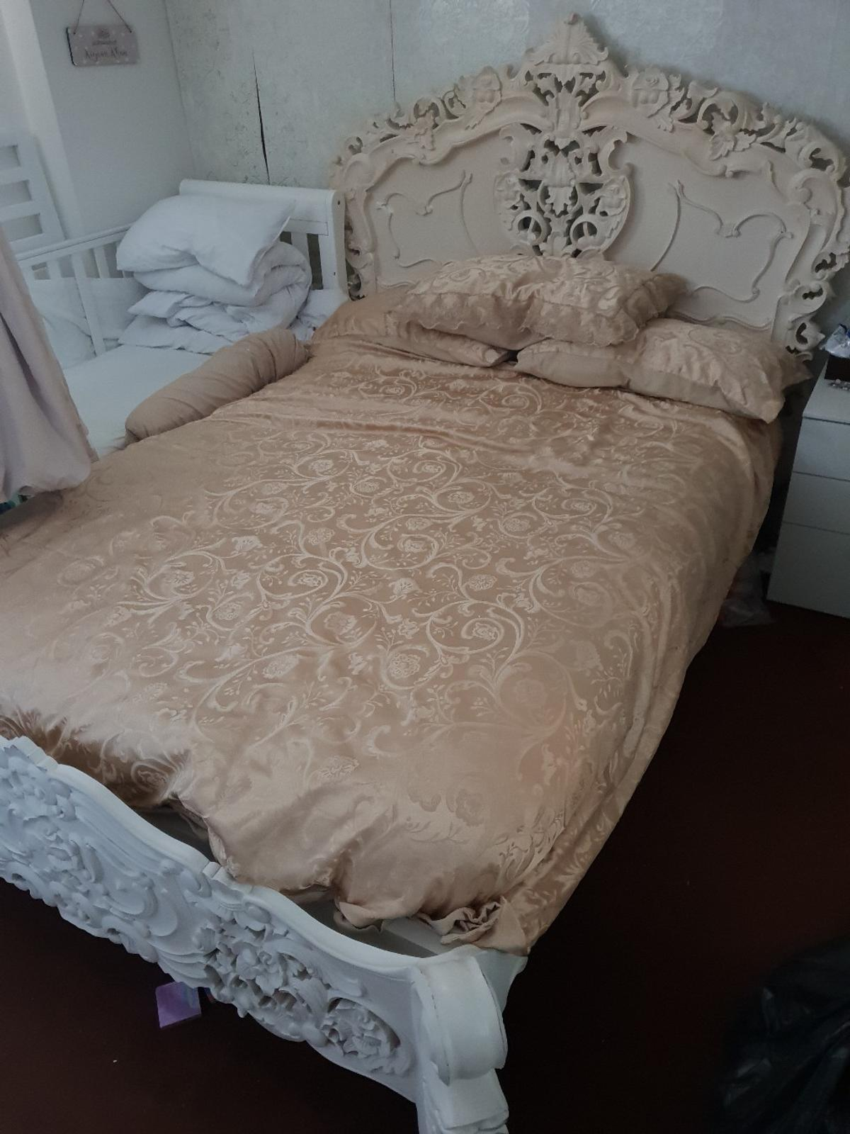 Awe Inspiring Rococo Double Bed French White Quick Sale Best Image Libraries Sapebelowcountryjoecom