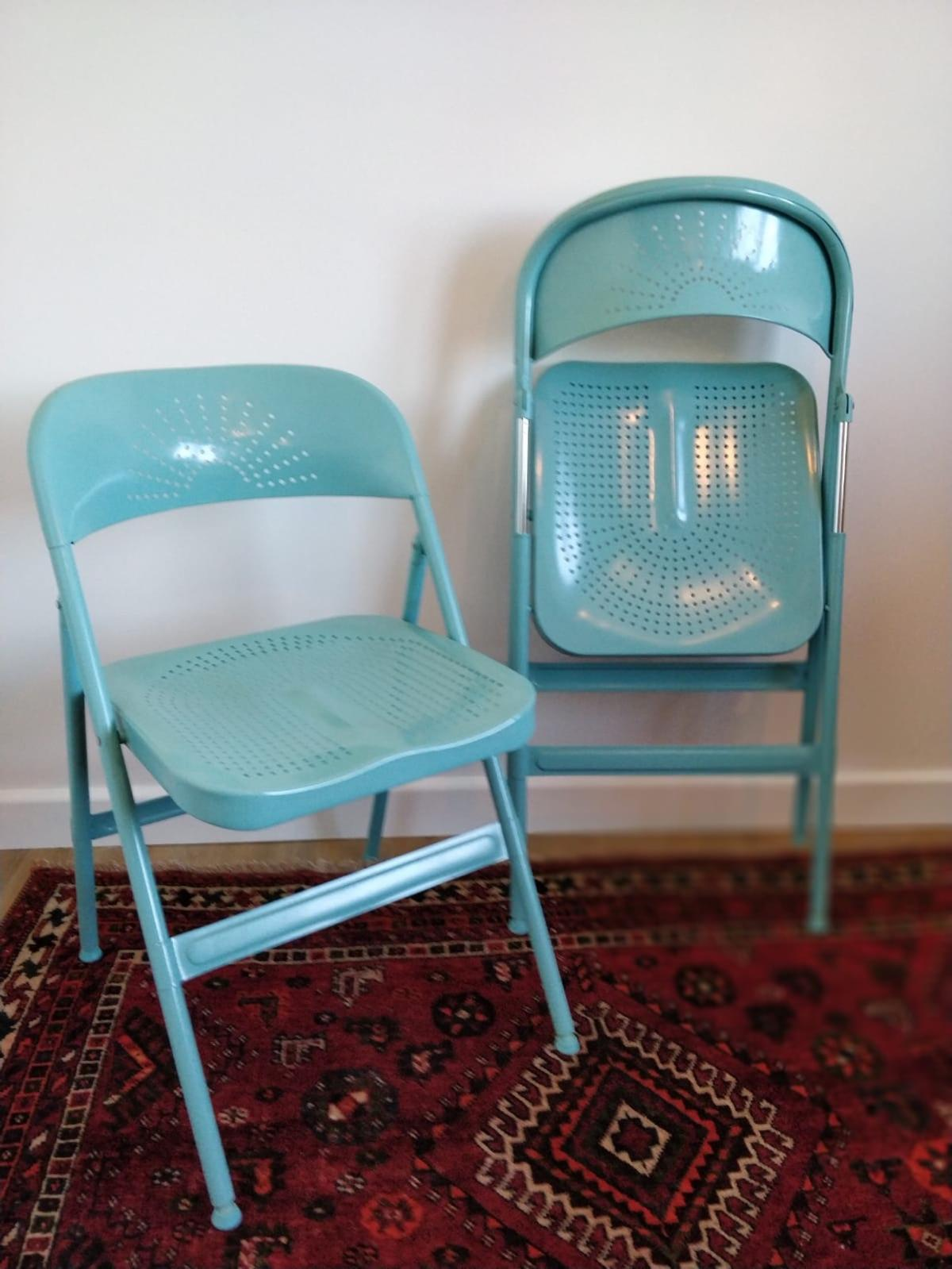 Outstanding Ikea Frode Pair Of Folding Chairs Turquoise Lamtechconsult Wood Chair Design Ideas Lamtechconsultcom