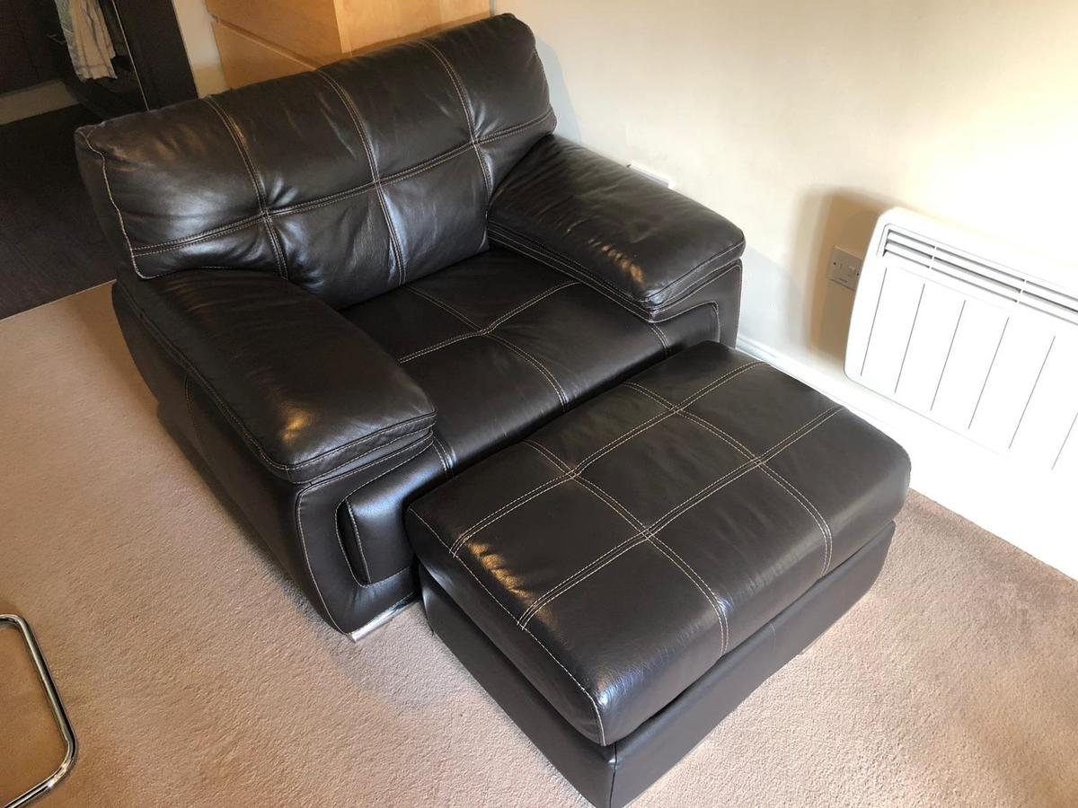 Pleasing Bergamo Verona Brown Leather Sofa Set In Ws15 Lichfield For Uwap Interior Chair Design Uwaporg